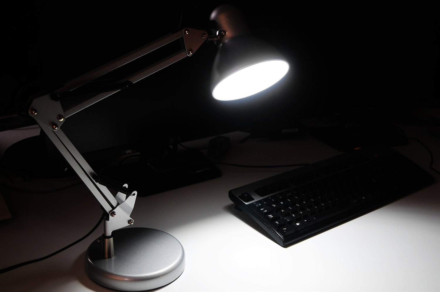 Angle Desk Lamp & LED GU10 240V Red 5W Example