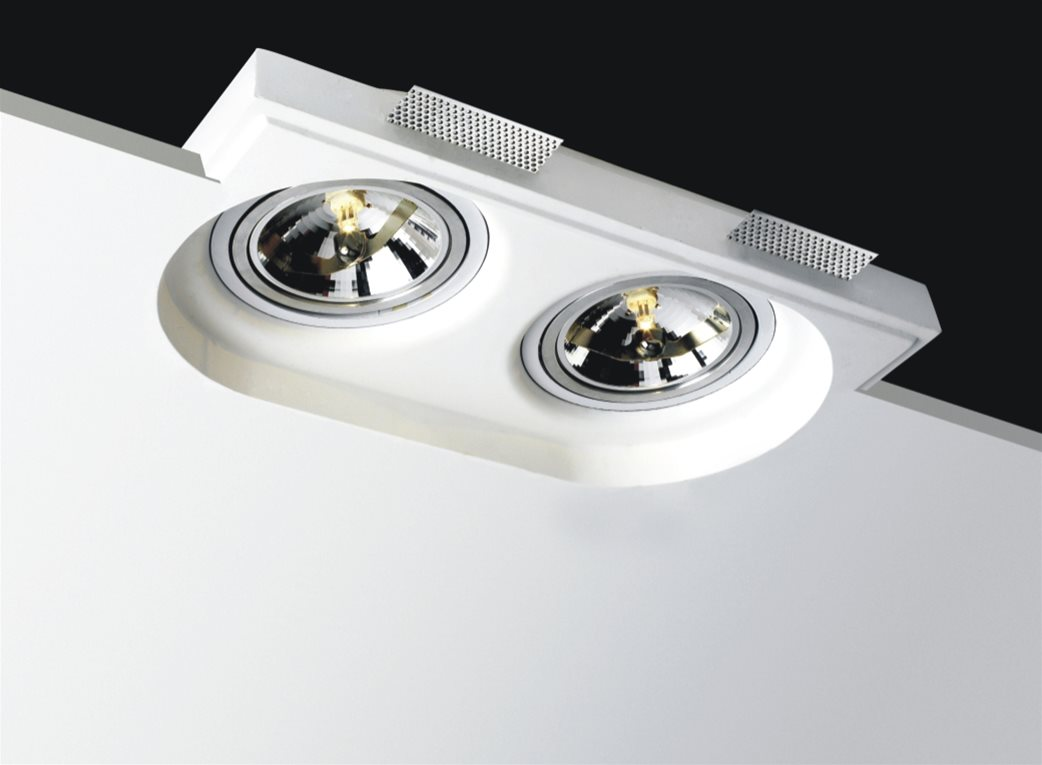 Trimless Round Plaster Range Mr Resistor Lighting