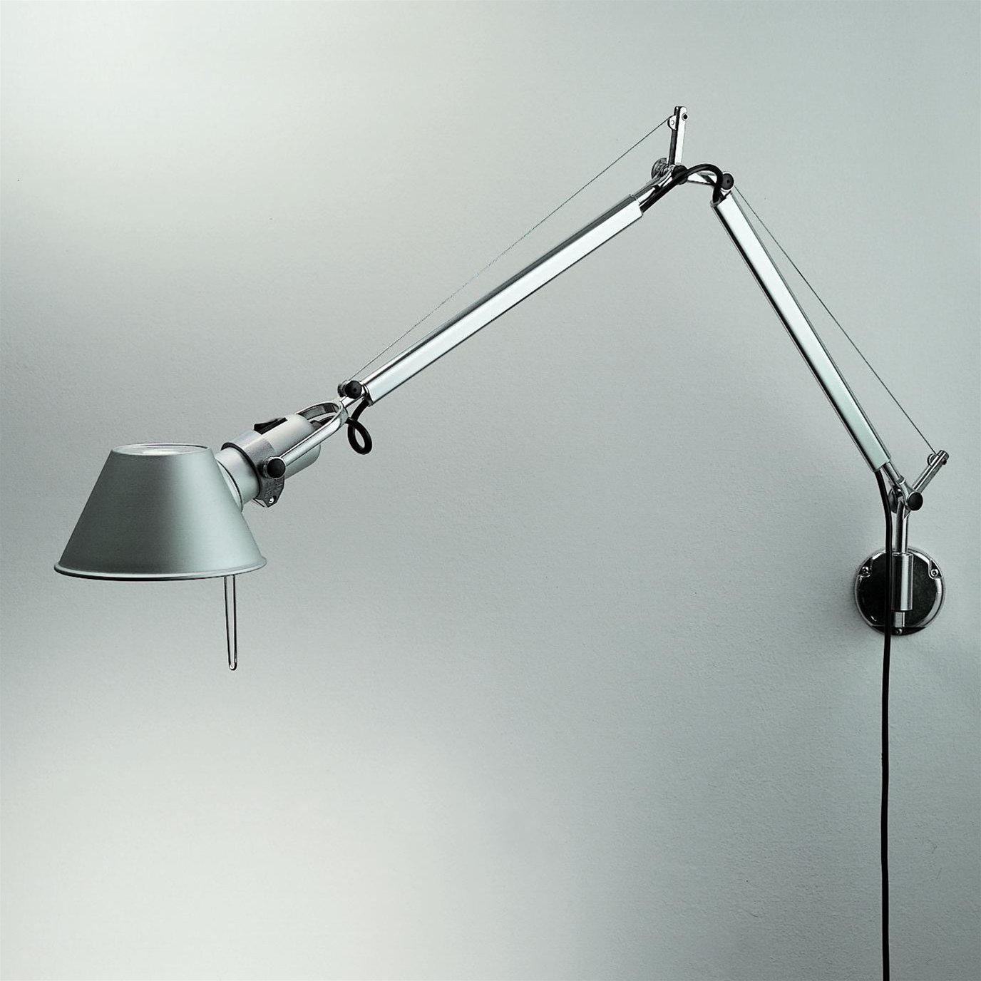 Tolomeo Wall Mount Lamp Parchment Shade : Tolomeo Mega Arm & Wall Bracket Parchment Shade 150W Mr Resistor Lighting