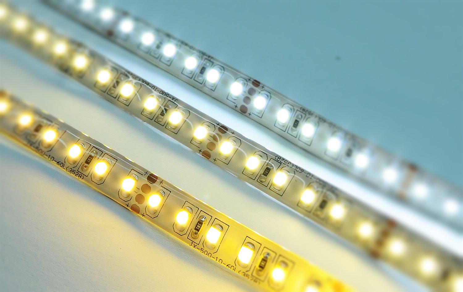 LED Tape Seamless 10m (120xSMD 3528 LEDs/m) 24V 80W (1m=8W) 3400K Warm White Example