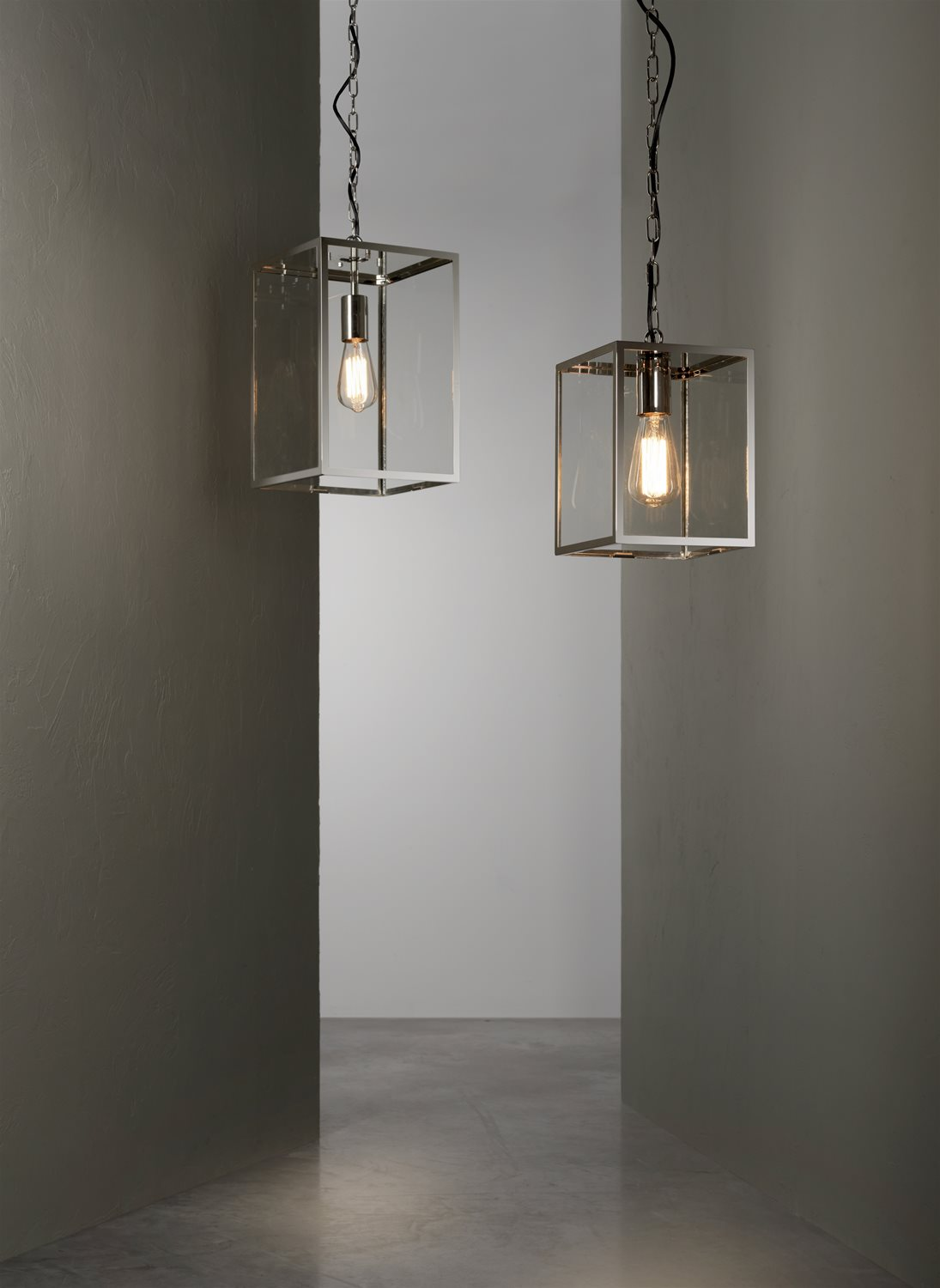 Homefield Pendant 240 240V 60W Polished Nickel Example