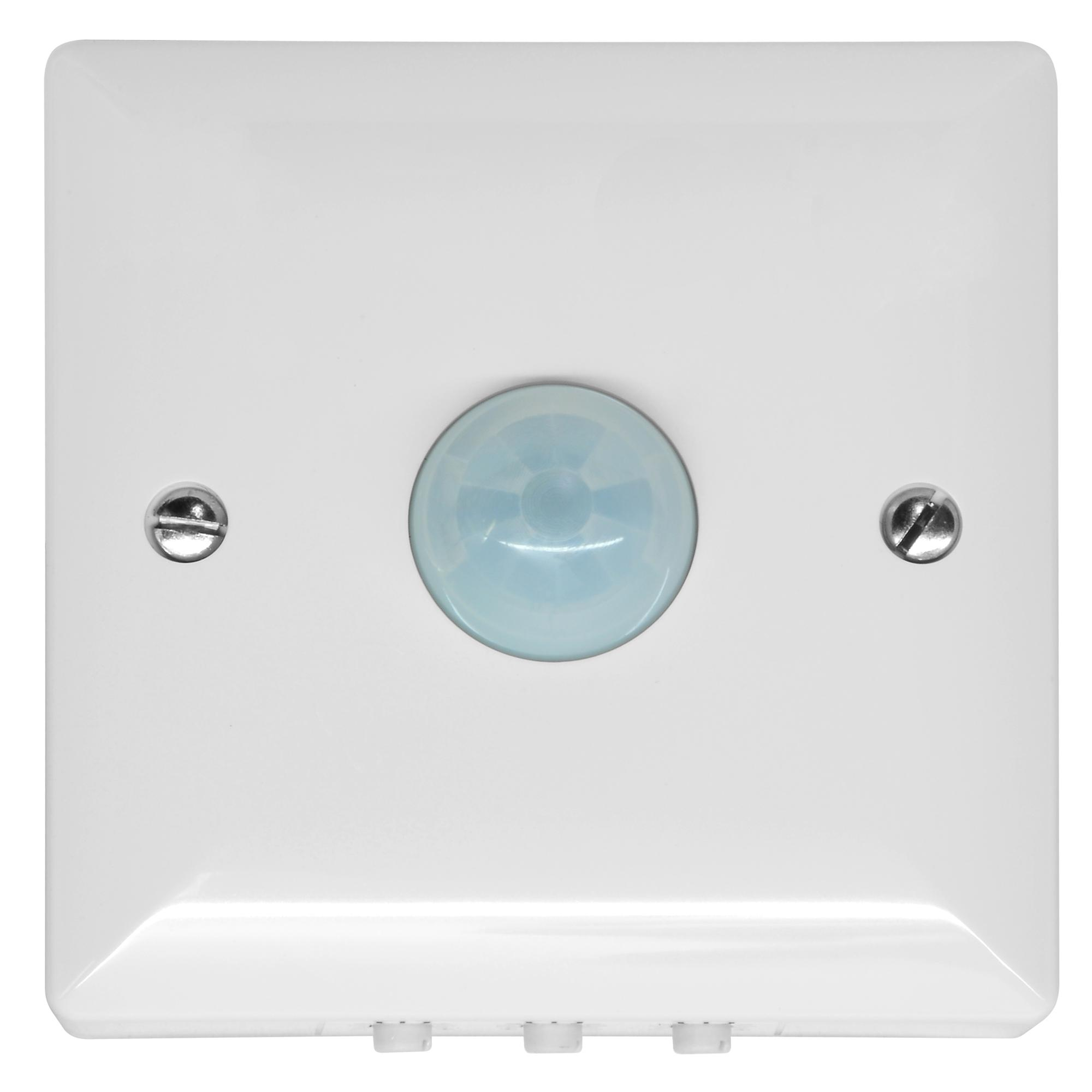 120 PIR Surface Mounted Occupancy Switch 1500W White Mr