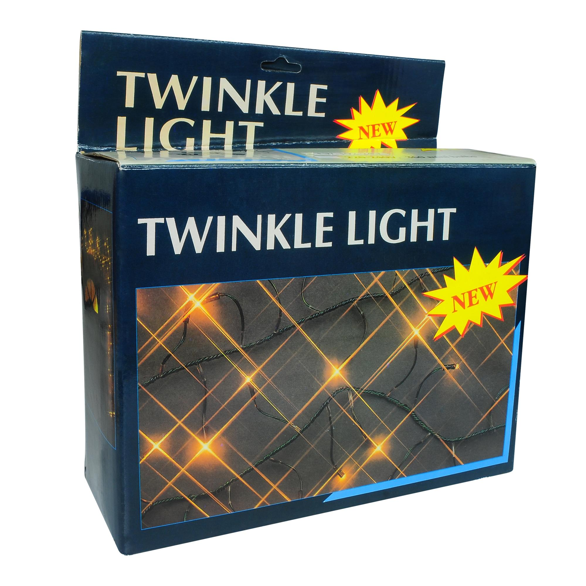Twinkle Light 5m 240V With Controller Outdoor Blue Black