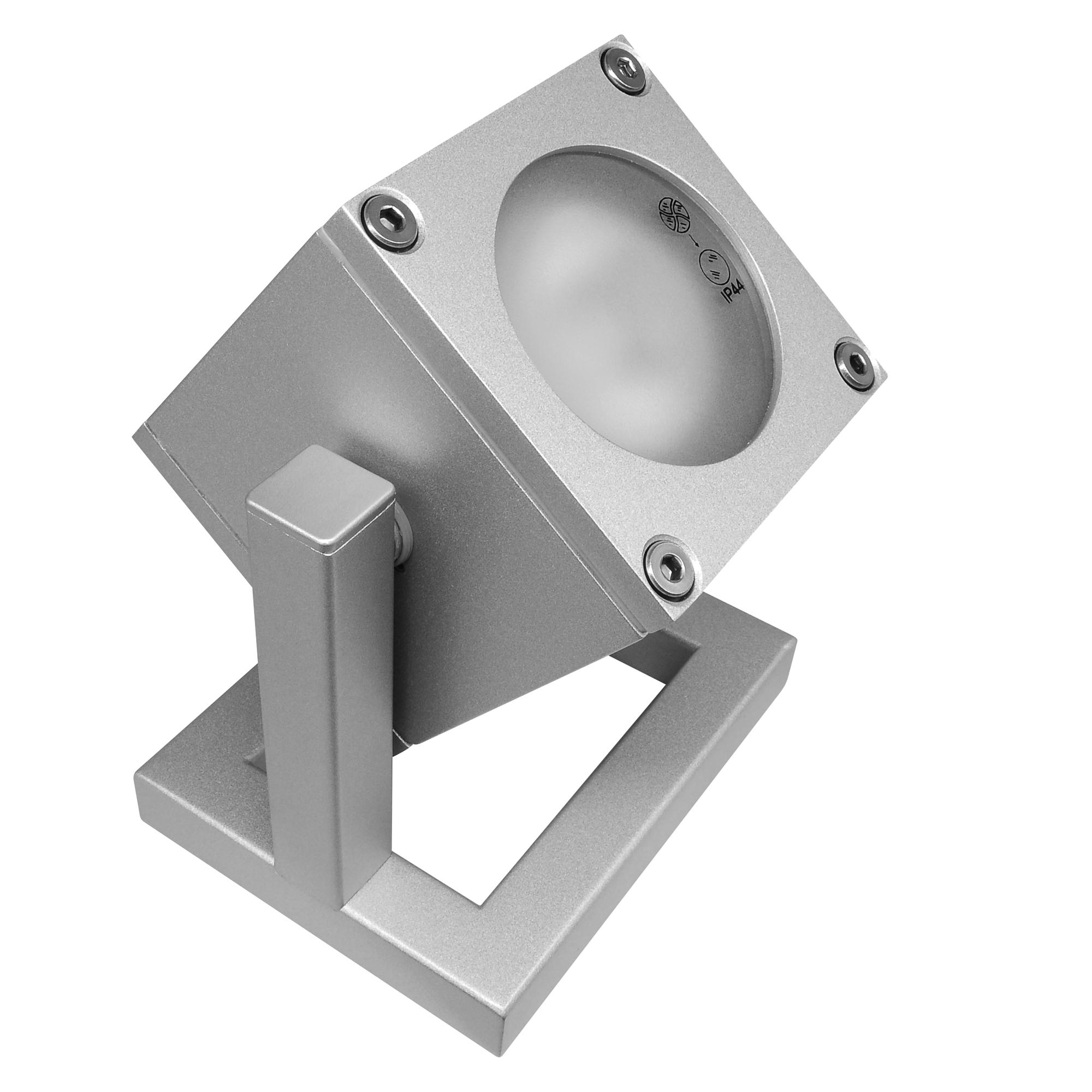 Floor cube spot uplighter silver 35w mr resistor lighting for Floor uplighters