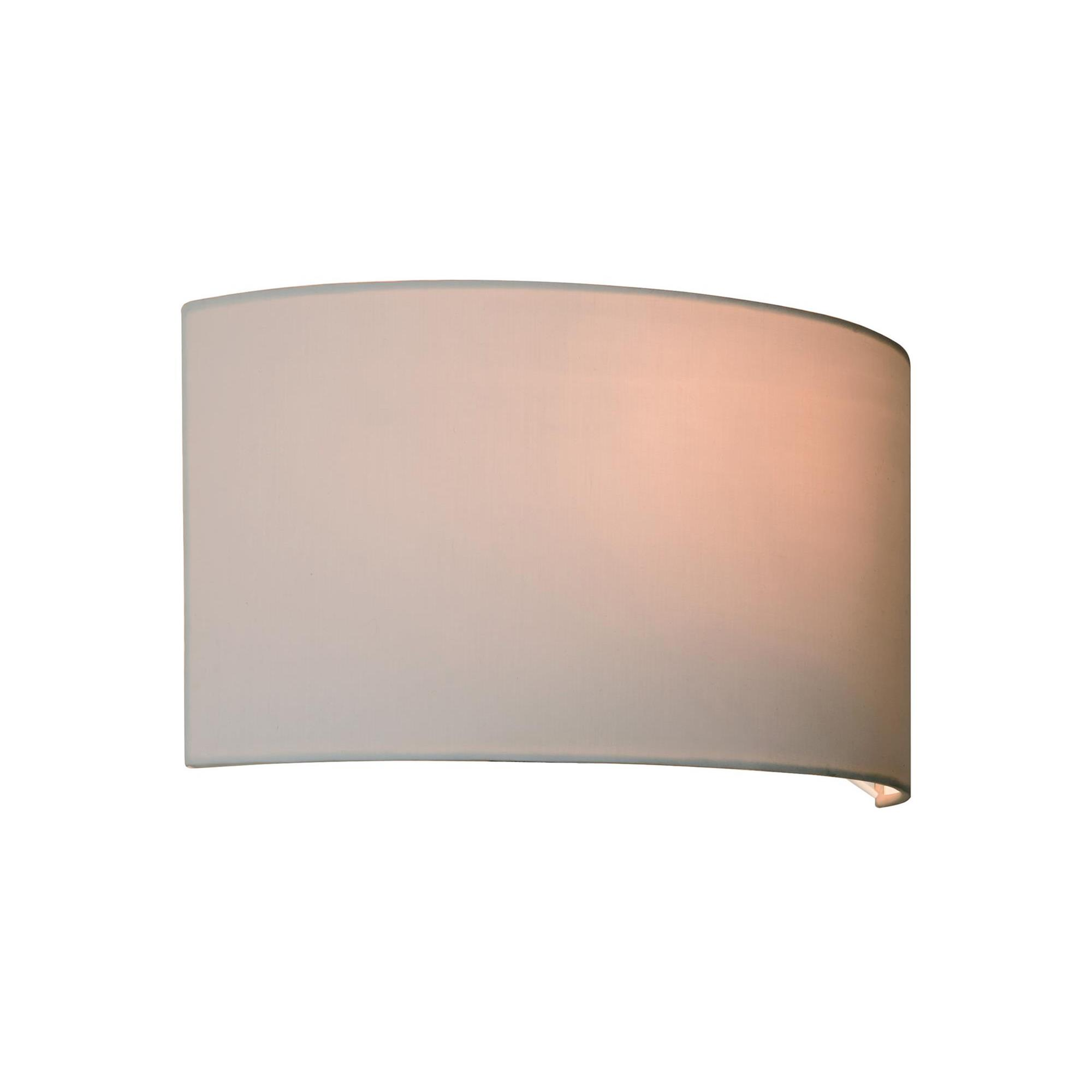 Wall Light Lamp Shades Fabric : Lima Bathroom Wall Light Shade Fabric Oyster Mr Resistor Lighting