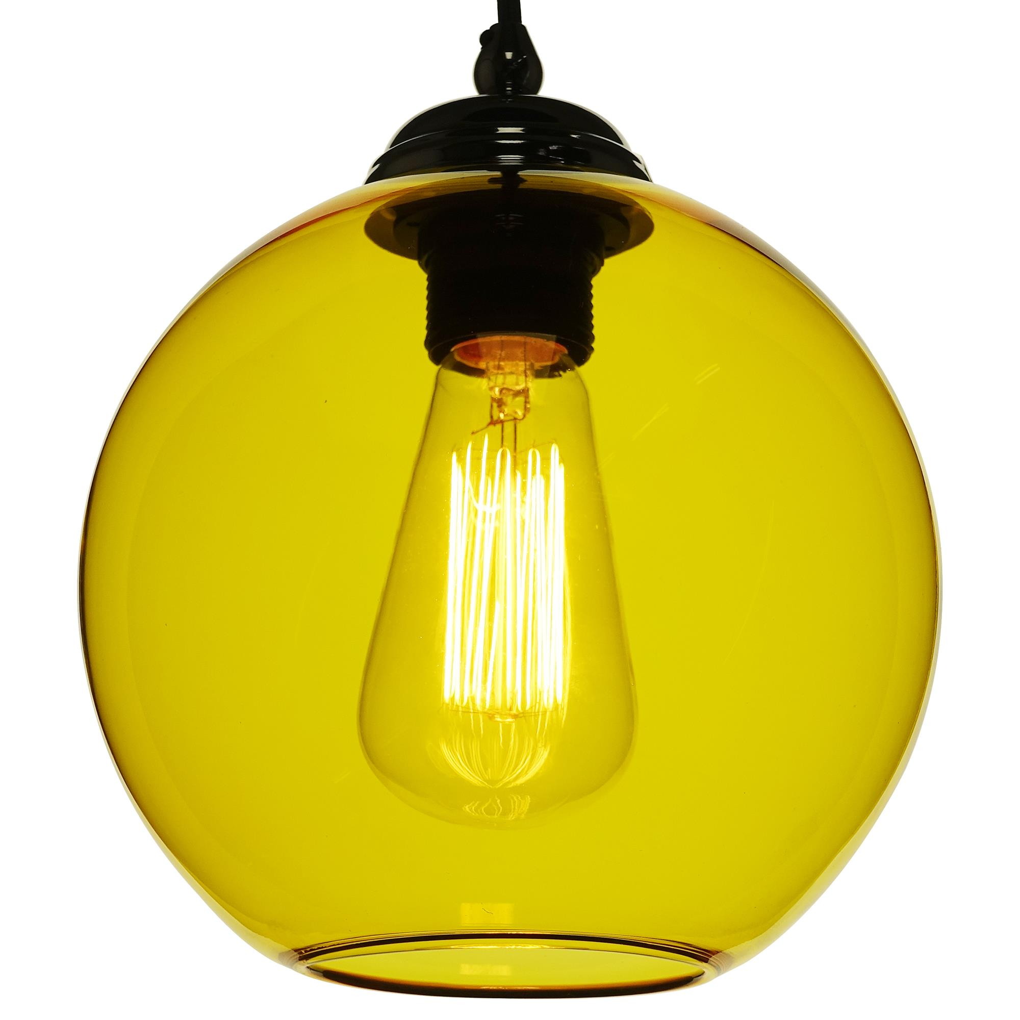 Glass Ball Pendant Shade 60W Yellow