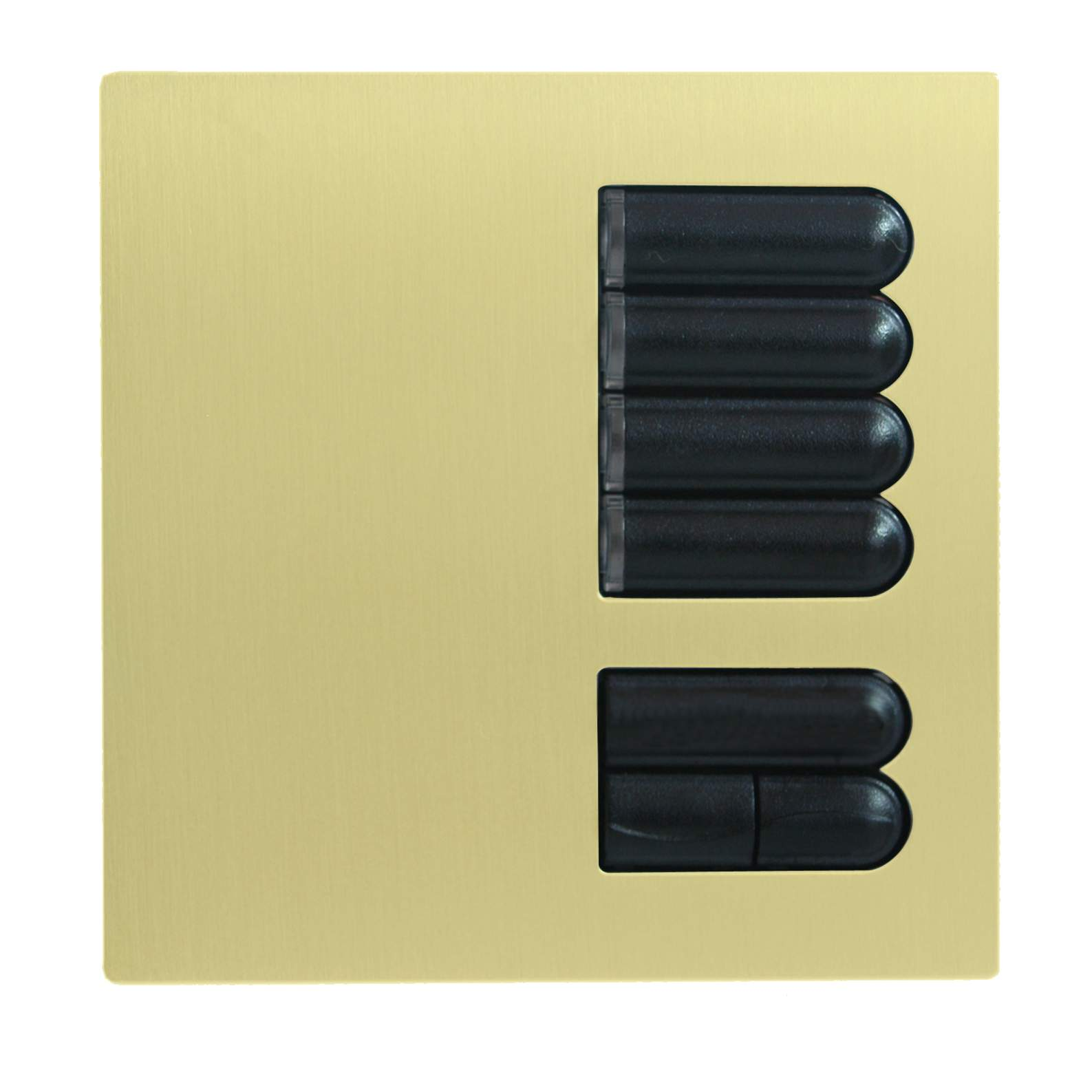 lutron european wall switch cover plate egrx4s satin brass. Black Bedroom Furniture Sets. Home Design Ideas