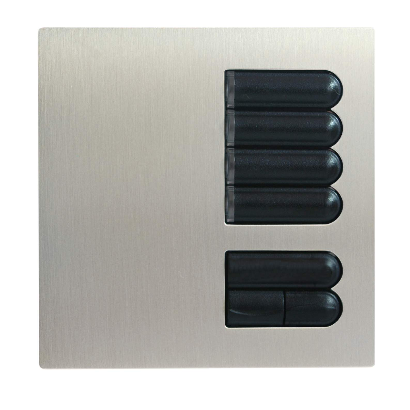 lutron european wall switch cover plate egrx4s satin. Black Bedroom Furniture Sets. Home Design Ideas