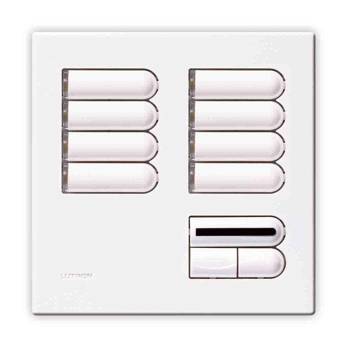 lutron european wall switch cover plate white egrx8sir. Black Bedroom Furniture Sets. Home Design Ideas