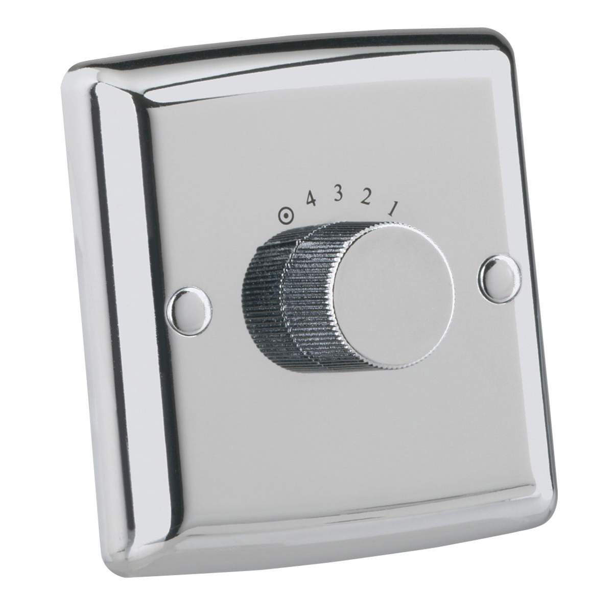 Ceiling Fan Wall Control Switch 4 Speed Polished Chrome