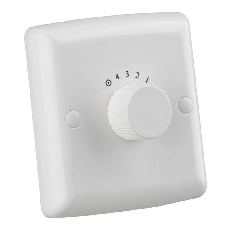 Ceiling Fan Wall Control Switch 4 Speed White