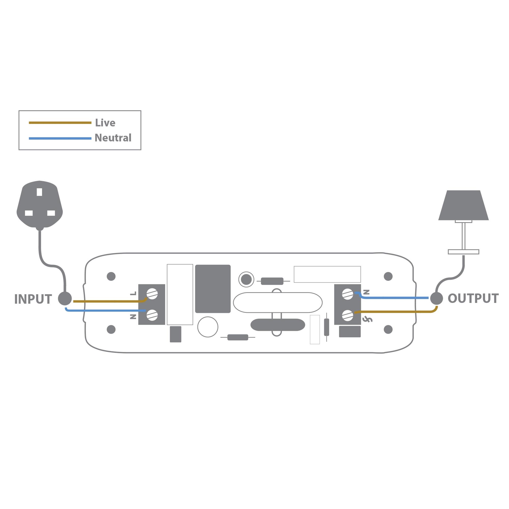 Wiring A Switch In Line Real Diagram Single Light With Plugs 2 Core Rotary Dimmer 240v Black 160w Mr Resistor Switches And