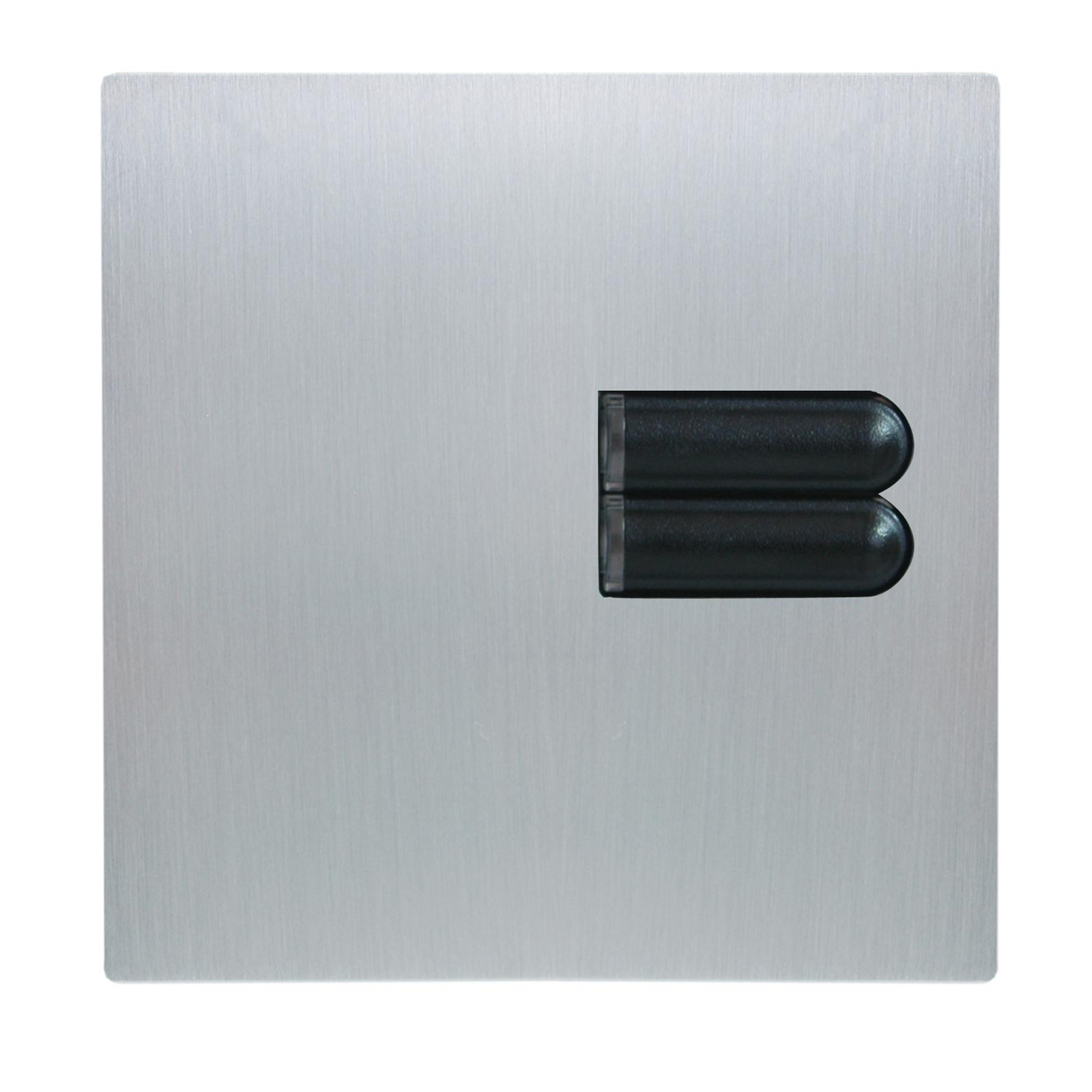 lutron european wall switch cover plate egrx2b satin. Black Bedroom Furniture Sets. Home Design Ideas