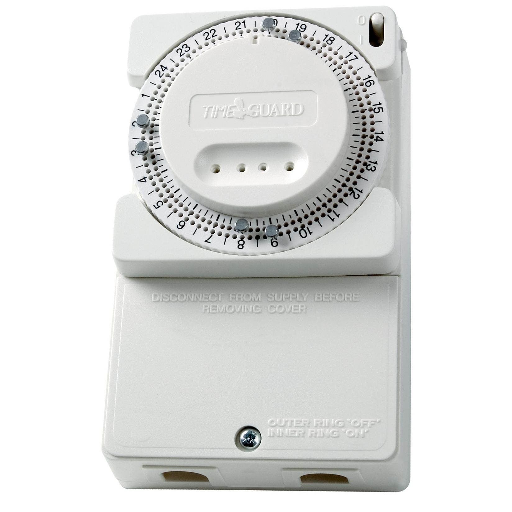 24 Hour Immersion Heater Time Controller White Mr