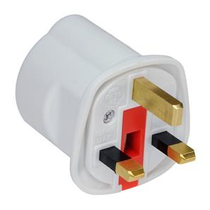 Travel Plug Adaptor 13A 2 pin to 3 pin