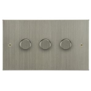 Dimmer Switch 3 gang 400 watt 2 way Satin Nickel