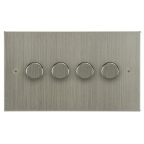 Dimmer Switch 4 gang 400 watt 2 way Satin Nickel