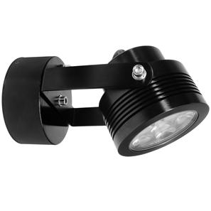 Battlestar 2.0 Wall Light 240V 6W Black 3000K Warm White