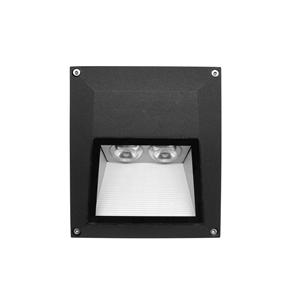 Ixis Surface Square Wall Light 240V 2W Black 3000K Warm White