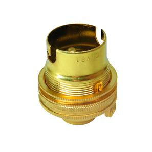 Unswitched Lamp Holder 13mm Brass BC / B22