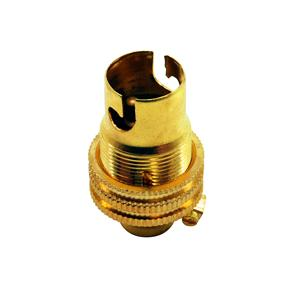 Unswitched Brass Lamp Holder 10mm Brass SBC / B15
