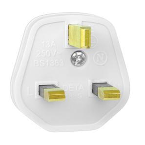 UK Mains Plug White 3A
