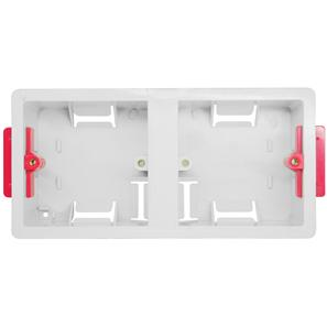 Dual Plate Plasterboard Back Box Plastic 35mm
