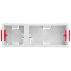 Single+Double Plate Plasterboard Back Box Plastic 35mm