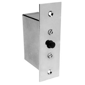 Plated Steel Door Switch Chrome 2A