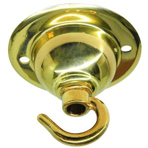 Ceiling Hook Plate Brass