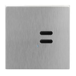 Wise Switch 2 Channel Satin Stainless Steel 3V
