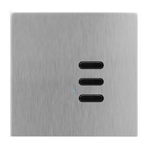 Wise Switch 3 Channel Satin Stainless Steel 3V
