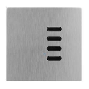 Wise Switch 4 Channel Satin Stainless Steel 3V