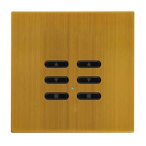 Wise Fusion Dimmer Slave Wireless 2 Gang Antique Brass 3V