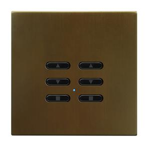 Wise Fusion Dimmer Slave Wireless 2 Gang Antique Bronze 3V