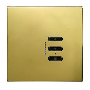 Wise Fusion Dimmer Master Wired 1 Gang 240V Polished Brass 450W