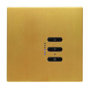 Wise Fusion Dimmer Master Wired 1 Gang 240V Satin Brass 450W
