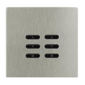 Wise Fusion Dimmer Slave Wireless 2 Gang Satin Nickel 3V