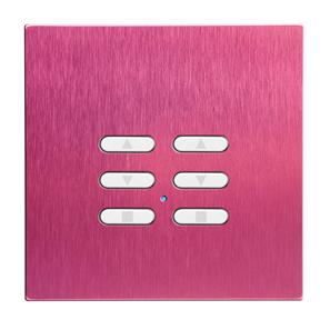 Wise Fusion Dimmer Slave Wireless 2 Gang Pink Aluminium 3V