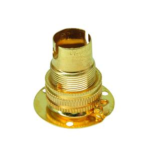 Screw Fix Unswitched Lamp Holder 10mm Brass SBC / B15