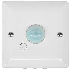 120° PIR Surface Mounted Occupancy Switch (Override switch) 1500W White