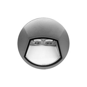 Ixis Surface Round Wall Light 240V Silver 2W