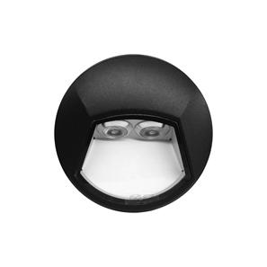 Ixis Surface Round Wall Light 2W 240V Black 3000K Warm White