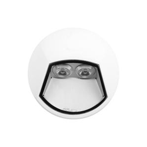 Ixis Surface Round Wall Light 2W 240V White 3000K Warm White