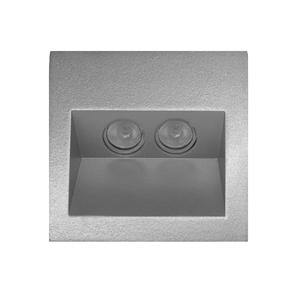 Ixis Recessed Wall Light 240V 2W Silver 3000K Warm White
