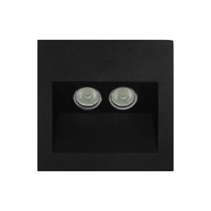 Ixis Recessed Wall Light 240V 2W Black 3000K Warm White
