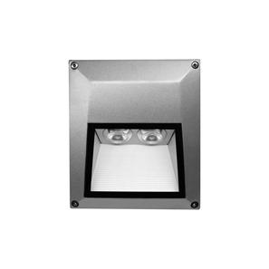 Ixis Surface Square Wall Light 240V 2W Silver 3000K Warm White