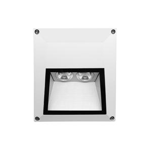Ixis Surface Square Wall Light 240V 2W White 3000K Warm White