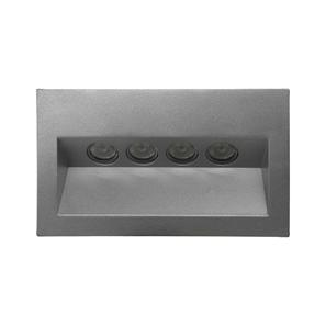 Ixis Recessed Wall Light 240V Silver 4W