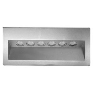 Ixis Recessed Wall Light 240V 6W Silver 3000K Warm White